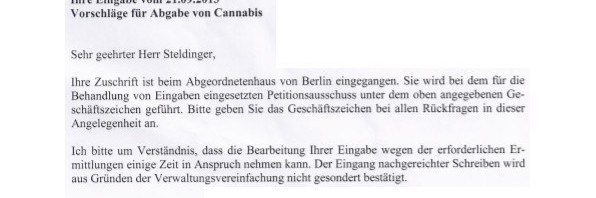 Scan Petition Abgeordnetenhaus Berlin Cannabis Social Club