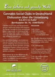Grafik Flyer zum CSC Treffen am 8.6. 2013 im Kubiz Tagungszentrum