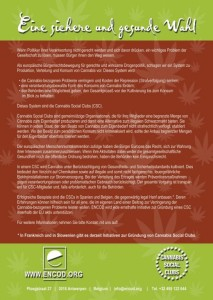 Cannabis Social Club Flyer 2012 - Deutsch - Eine Gesunde Option - Rueckseite_Grafik
