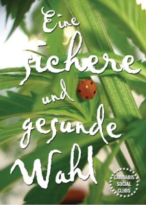 Cannabis Social Club Flyer 2012 - Deutsch - Eine Gesunde Option - Vorderseite_Grafik