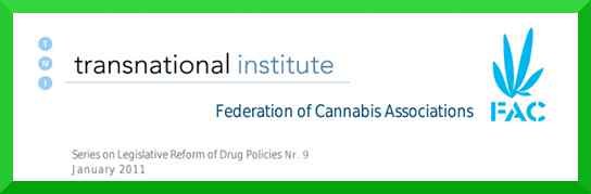 Grafik des Kopfteil des Berichtes Cannabis Social Clubs in Spanien